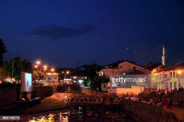River Cinema is built on a platform directly over the Bistrica River that flows through Prizren