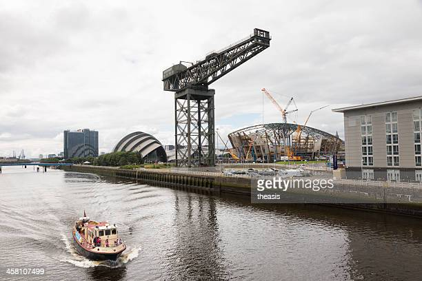 river clyde ferry, glasgow - clyde auditorium stock pictures, royalty-free photos & images