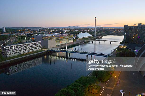 River Clyde Glasgow at sunset