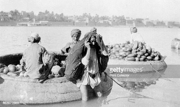 River craft laden with melons Tigris River 19171919
