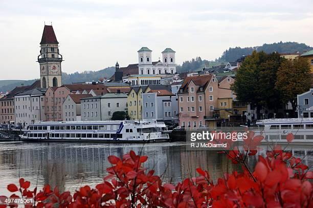 River Cruise Boats docking in Passau