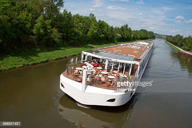River cruise ship Viking Lif on Main river canal