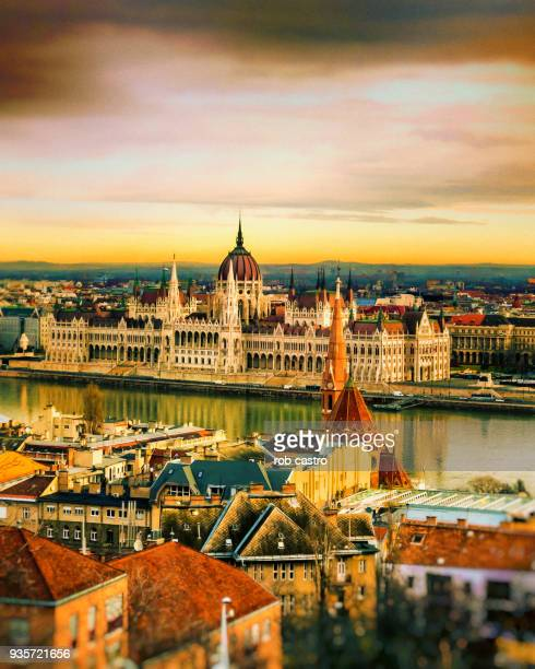 river danube at budapest - budapest stock pictures, royalty-free photos & images