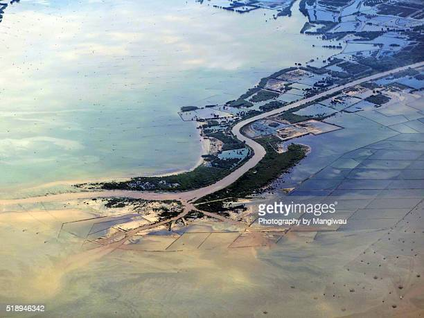 river delta - soil erosion stock photos and pictures