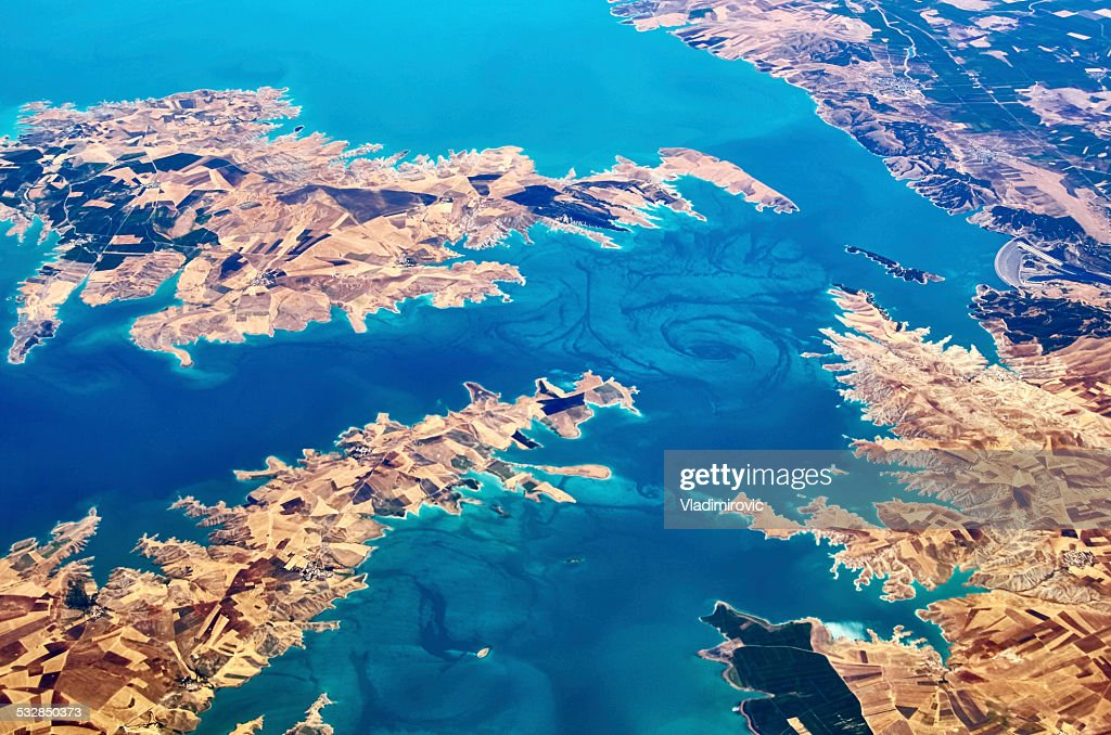 River dry mountains : Stock Photo