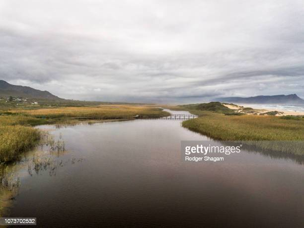 river estuary. kleinmond, western cape province, south coast, south africa. - overberg stock pictures, royalty-free photos & images