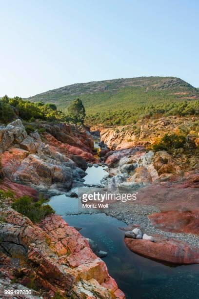 river fango, tuarelli, fango valley or vallee du fango, haute-corse, corsica, france - corsica stock-fotos und bilder