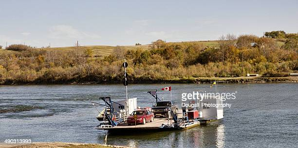 River Ferry Across South Saskatchewan River Near Saskatoon