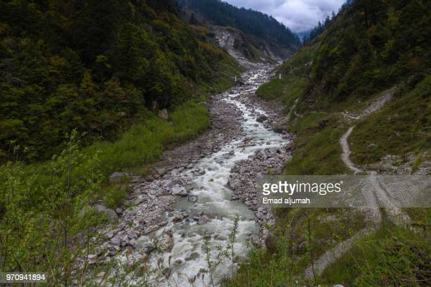 River flowing in North Sikkim, India