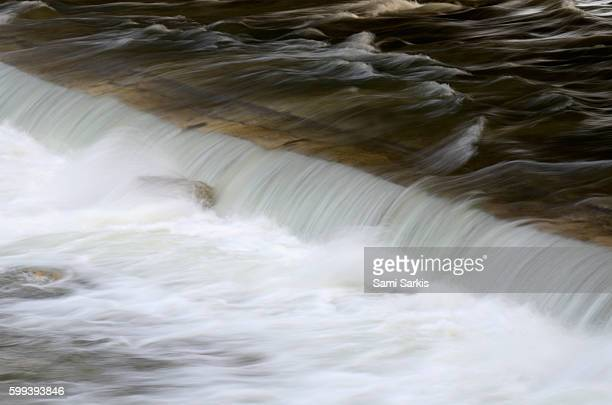 River flowing over a weir
