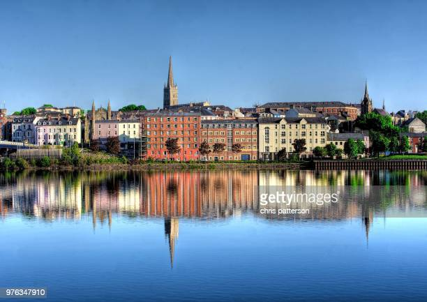 river foyle - river foyle stock pictures, royalty-free photos & images