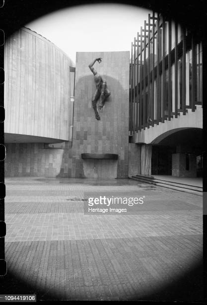 River God' Civic Centre Great North Road Newcastle Upon Tyne circa 1955circa 1980 A detailed view of the bronze sculpture by David Wynne hung on the...