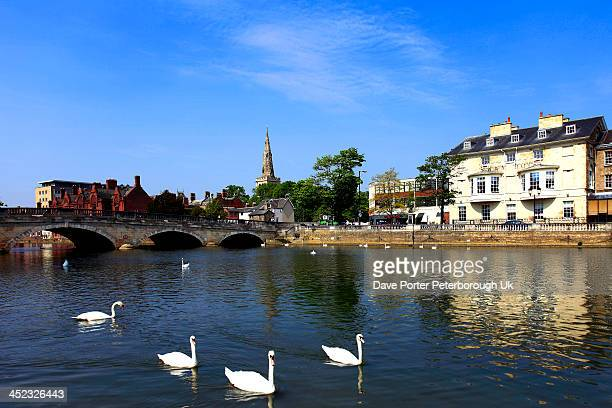 river great ouse, bedford town - bedfordshire stock photos and pictures