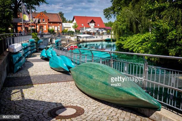 Flusshafen in Burg im Spreewald, Deutschland