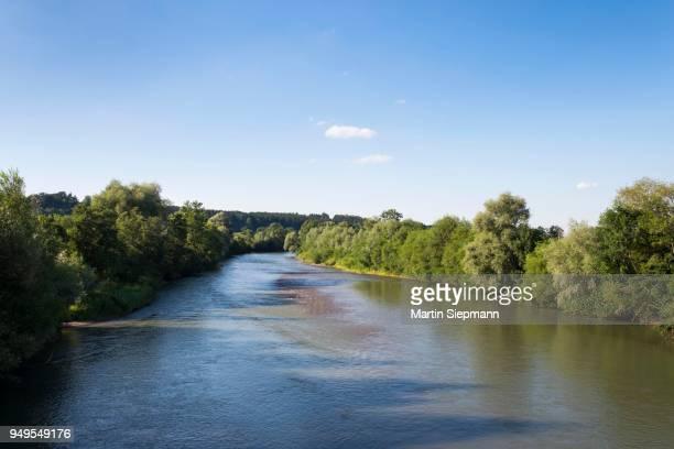 River Iller at Martin Zell, Upper Allgaeu, Allgaeu, Swabia, Bavaria, Germany