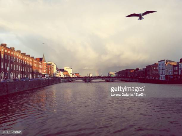 river in city against sky - lorena day stock pictures, royalty-free photos & images