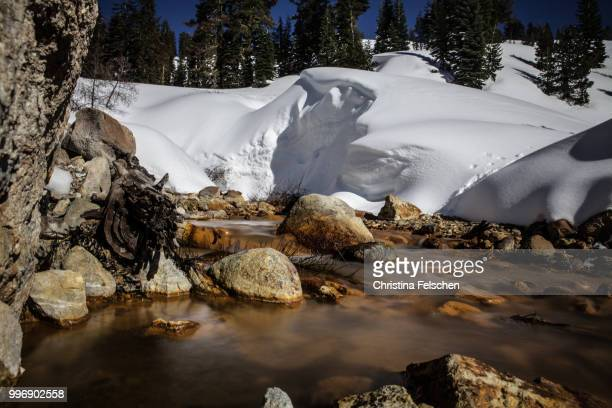 river in lassen volcanic national park - christina felschen stock photos and pictures