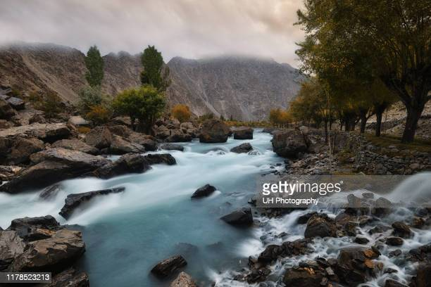 a river in skardu - skardu stock pictures, royalty-free photos & images