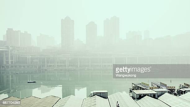 river in the hazy