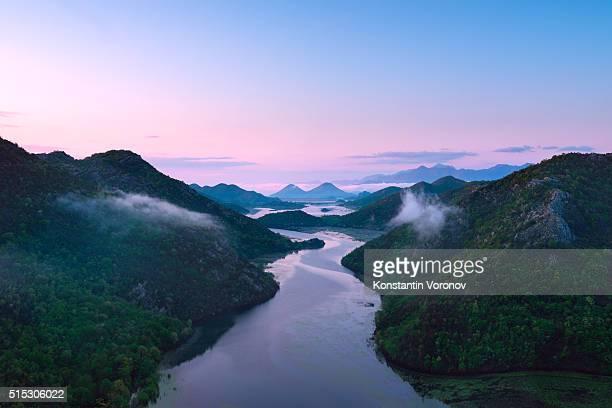 River in the hills. Rijeka Crnojevića and Vranjina hills
