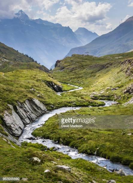 river in valle d'aosta, italy - ruscello foto e immagini stock
