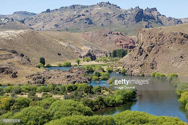 river in valle encantado in argentina - bariloche stock pictures, royalty-free photos & images