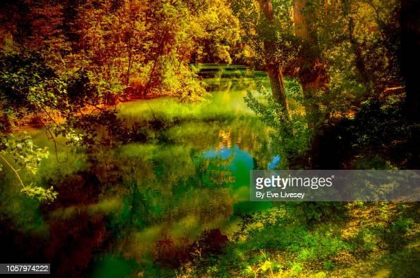 river jucar - cuenca provincia de cuenca fotografías e imágenes de stock