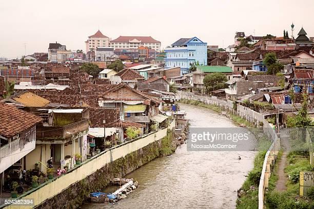 River Kali Code flowing through Yogyakarta Indonesia