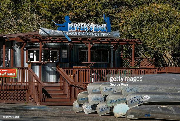 River kayak rental shop at Memorial Beach is deserted on January 24 in Healdsburg, California. With 2013 the driest year in recorded history and...
