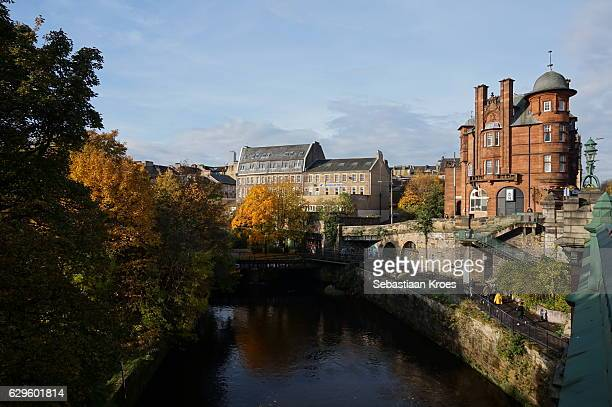 River Kelvin Seen from Great Western Bridge, Glasgow, United Kingdom
