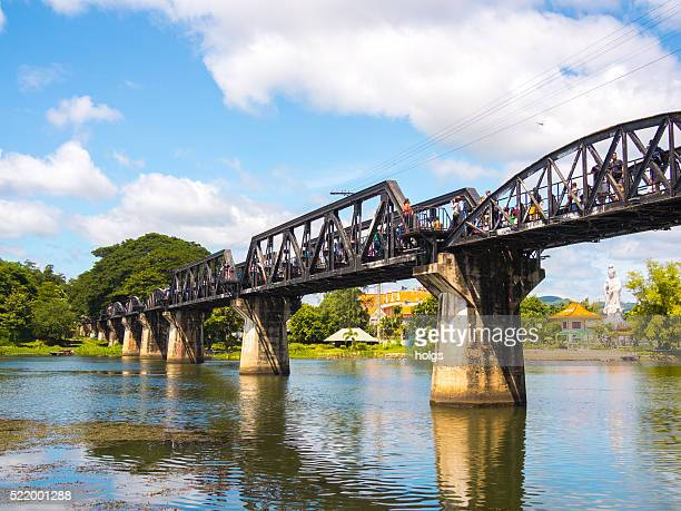 river kwai bridge in kanchanaburi, thailand - bridge over the river kwai stock pictures, royalty-free photos & images