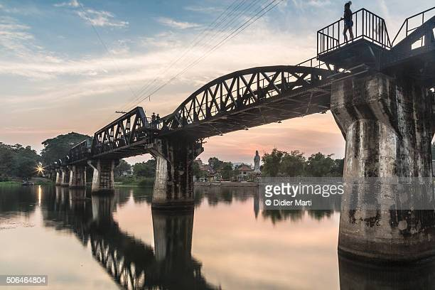 river kwai bridge in thailand - bridge over the river kwai stock pictures, royalty-free photos & images