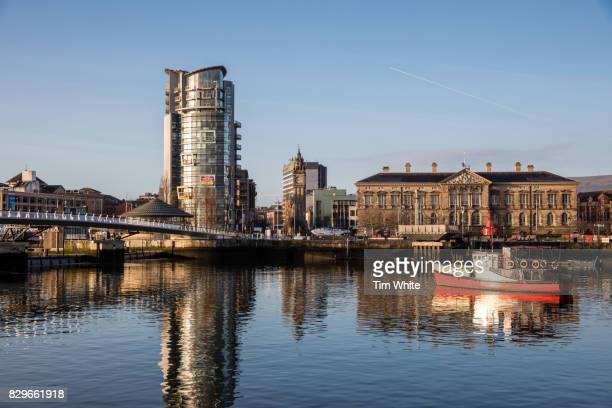 River Lagan, Belfast, Northern Ireland