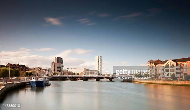 river lagan - belfast stock pictures, royalty-free photos & images