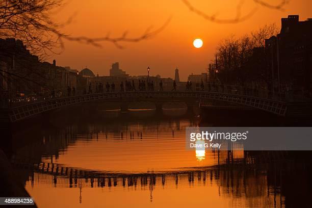 River Liffey at sunset