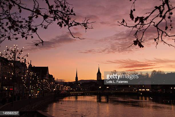River Limmat at sunset