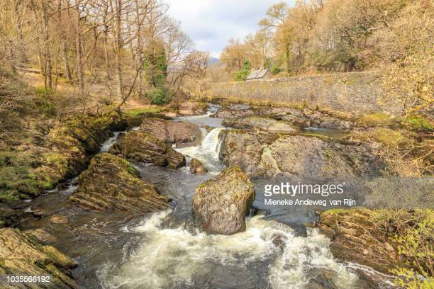 River Llugwy at Capel Curig, Conwy, Wales, United Kingdom.