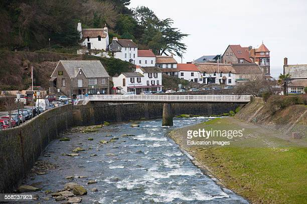 River Lyn and village of Lynmouth Devon England