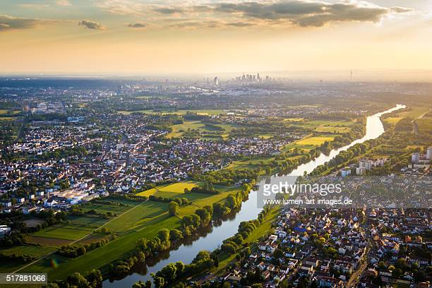 river main and frankfurt - hesse germany stock pictures, royalty-free photos & images