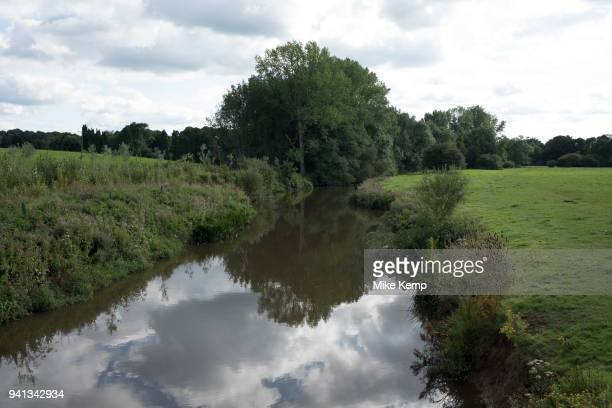 River Medway meandering through the countryside near to Leigh England United Kingdom