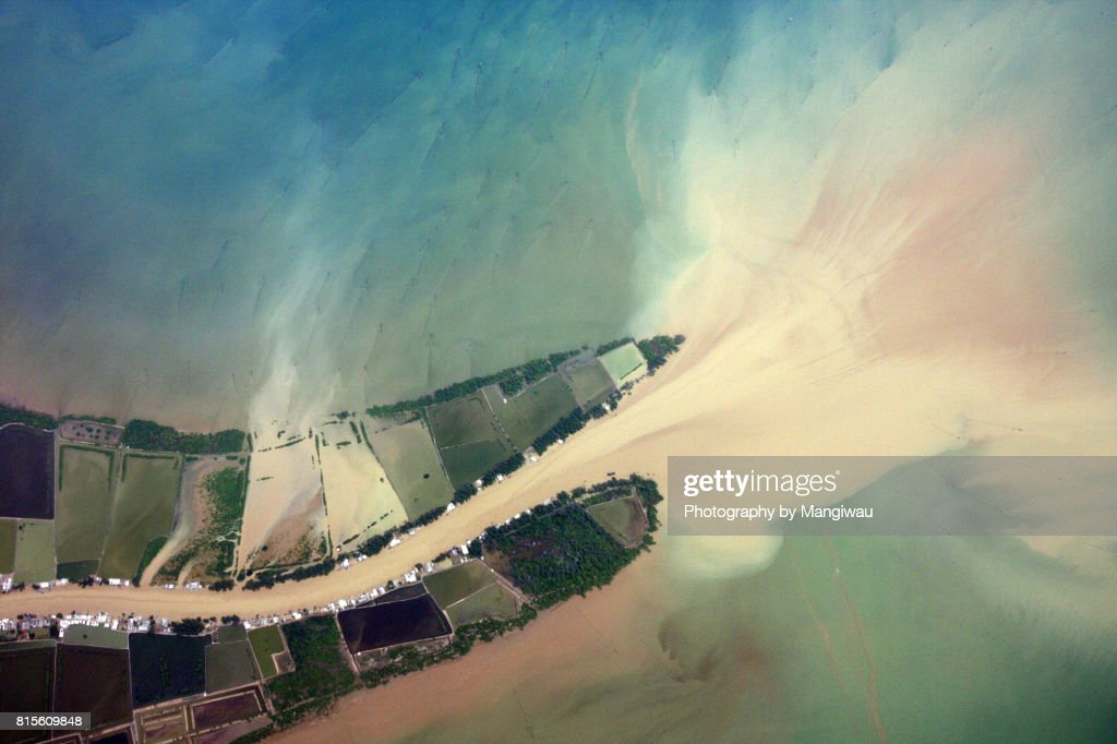 River Mouth : Stock Photo