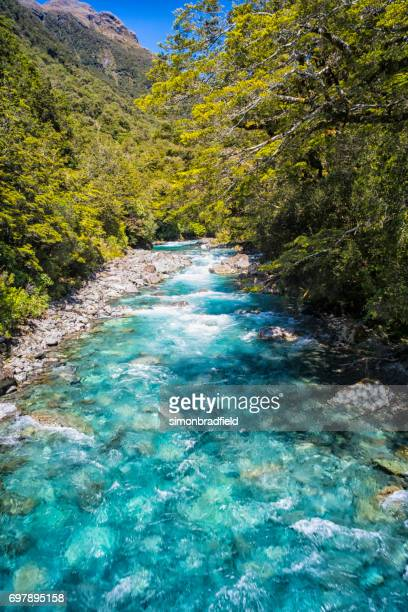 River Near Milford Sound, On New Zealand's South Island