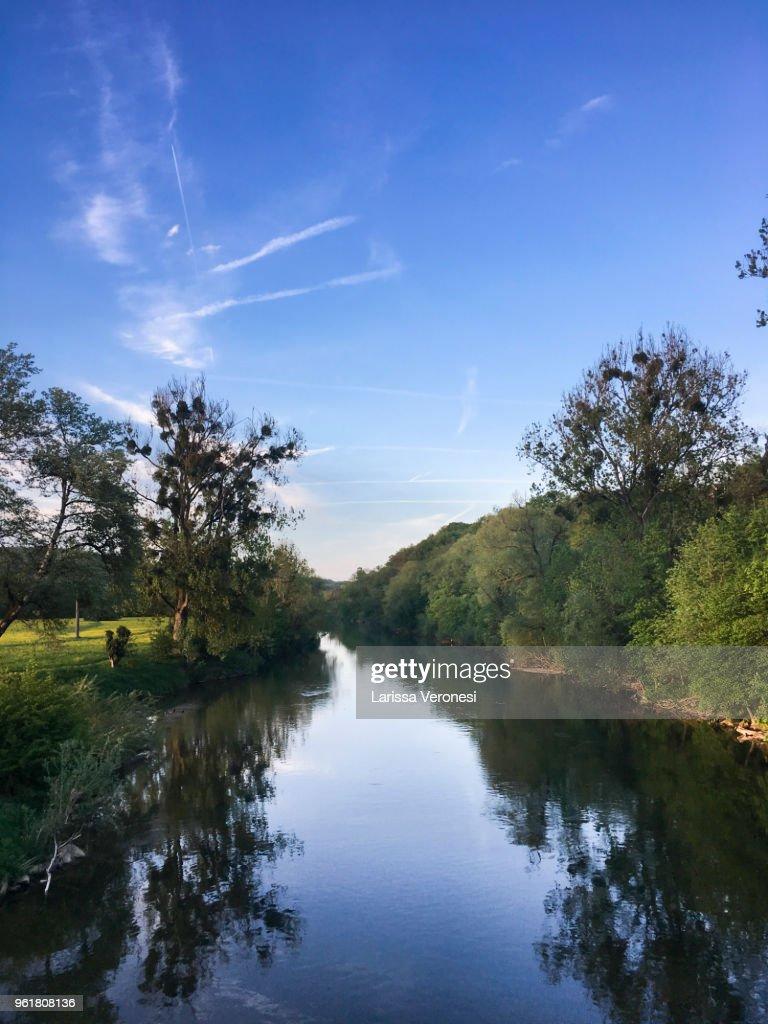 River Neckar near Tübingen, Germany : Stock-Foto