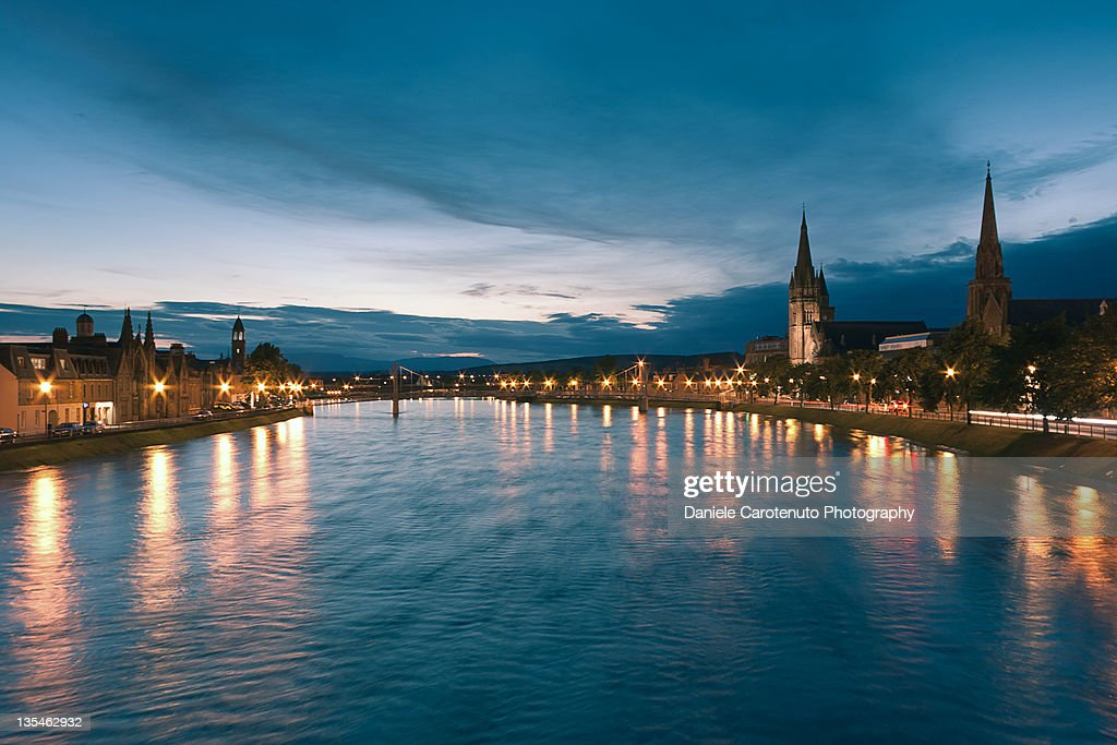 River Ness at night : Stock Photo