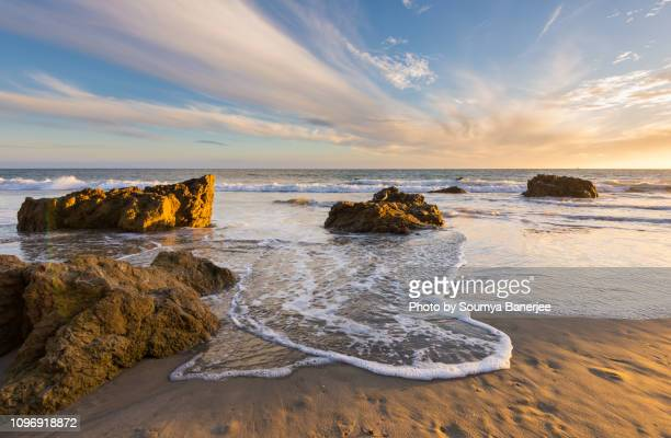 river of clouds - malibu beach stock pictures, royalty-free photos & images
