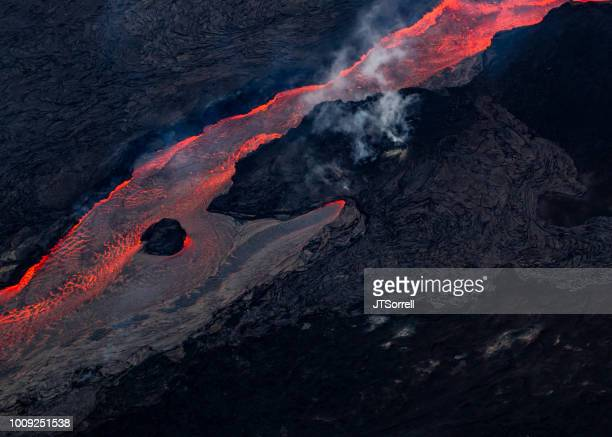 river of lava - pele goddess stock pictures, royalty-free photos & images