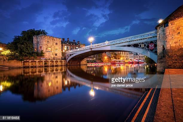 river ouse, lendal bridge, york, england - ouse river stock photos and pictures