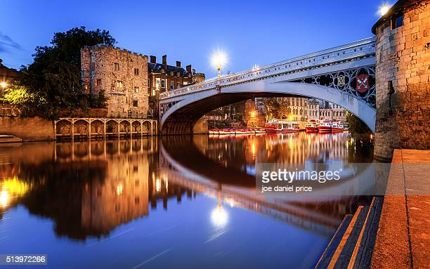river ouse, lendal bridge, york, england - york stock photos and pictures