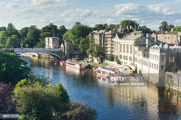 river ouse, york, england - york yorkshire stock pictures, royalty-free photos & images