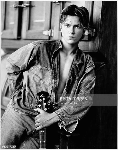 River Phoenix with Guitar